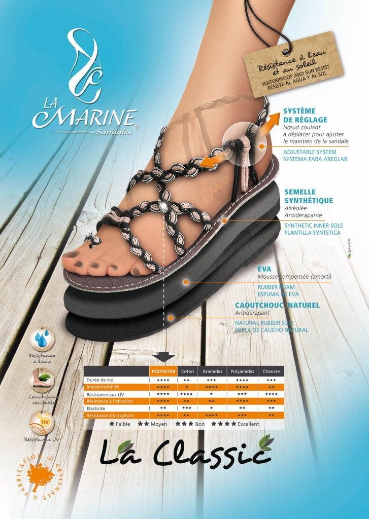 La Marine Sandale Zehentronner Sandale 032